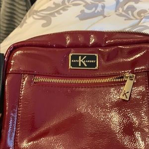 Kate Landry Red leather shoulder bag